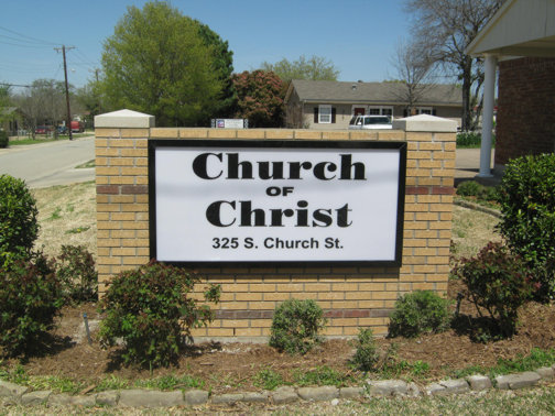 Custom Signs in Dallas Area | Hancock Sign Company | Church Of Christ's Custom Sign