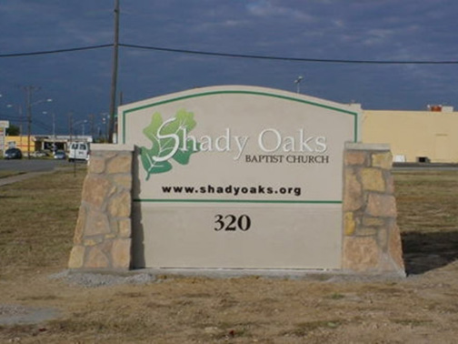 Custom Church Signs in Dallas | Hancock Sign Company | Shady Oaks Baptist's Custom Sign