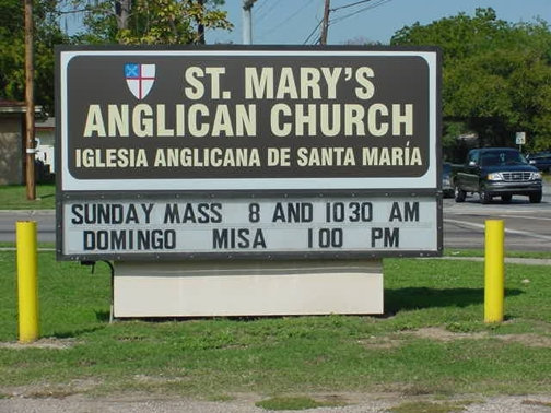 Church Signs in Dallas TX and Surrounding Areas | Hancock Sign Company | St. Mary's Church Sign