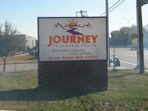 Custom Church Signs in Dallas | Hancock Sign Company | Journey Fellowship's Custom Ssign