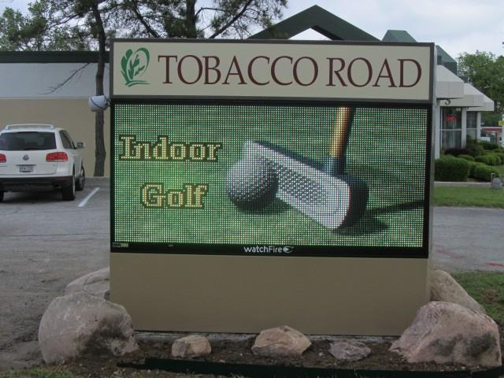 Custom LED Message Sign in Dallas TX | Tobacco Road